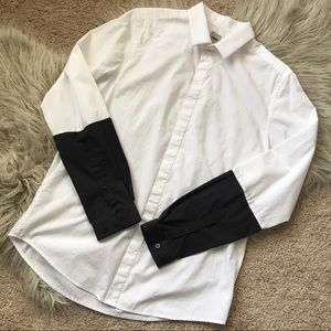 Men's Asos Black & White Color-block long sleeve